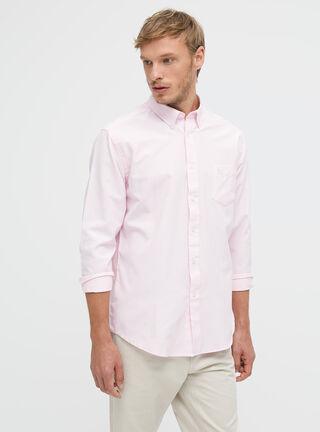 Camisa Clásica Lisa Rainforest,Coral,hi-res