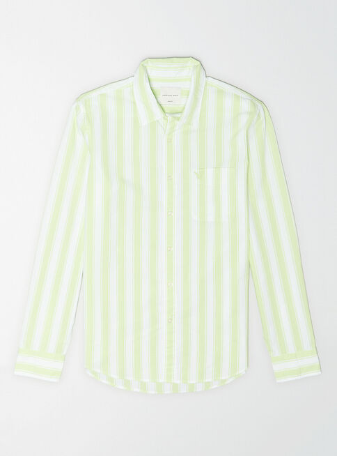 Camisa%20Popelina%20Slim%20Fit%20Prep%20Shop%201981%20American%20Eagle%2CAzul%20Petr%C3%B3leo%2Chi-res
