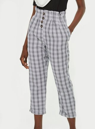 Pantalón Petite Check Button Topshop,Único Color,hi-res