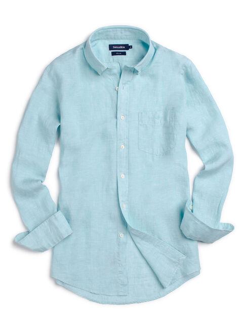 Camisa%20Lino%20Oxford%20Lisa%20Manga%20Larga%20Saville%20Row%2CVerde%20Claro%2Chi-res