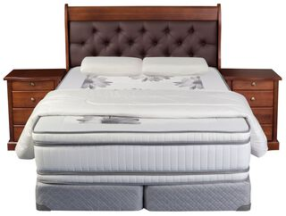 Set Box Spring Flex Majesty Capitone King,Único Color,hi-res