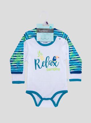 Set 2 Bodys Niño Relax Azul Bambino,Azul Petróleo,hi-res