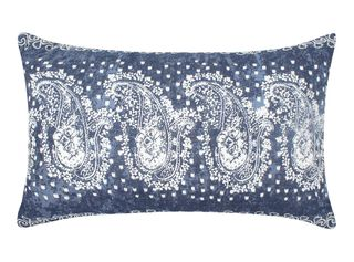 Cojín Enredadera 30x50 cm Sarah Miller,Azul Petróleo,hi-res