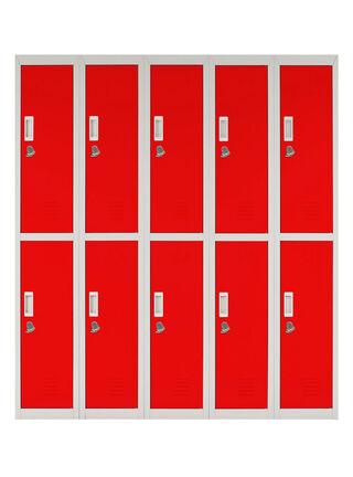 Locker Office Candado Rojo 10 Puertas 140x50x166 cm Maletek,,hi-res