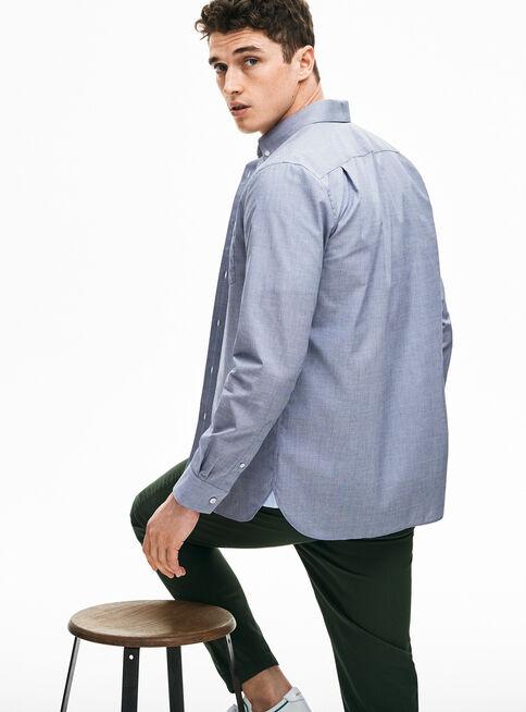 Camisa%20Algod%C3%B3n%20Manga%20Larga%20Azul%20Lacoste%2CAzul%2Chi-res