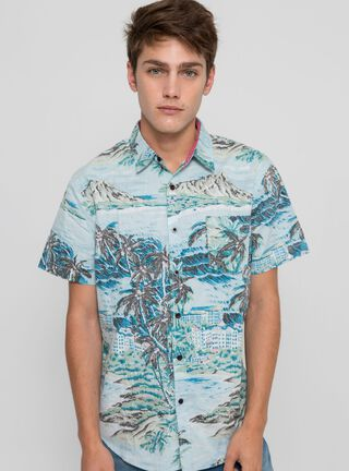 Camisa Print Summer Aussie,Verde Olivo,hi-res
