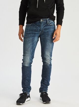 Jeans Slim Fit American Eagle,Ceniza,hi-res