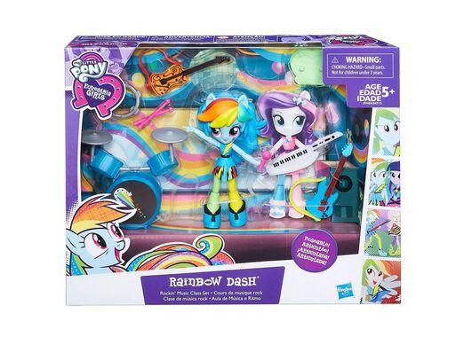 Equestria Girls Pijamada Rainbow My Little Pony En Muñecas Y