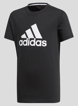 Polera Niño Essential Logo Adidas,Negro,hi-res