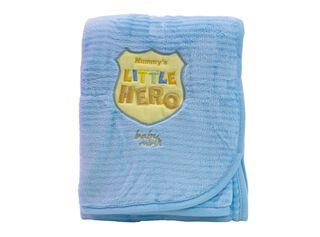 Frazada Baby Mink Bordado Unisex,Azul,hi-res