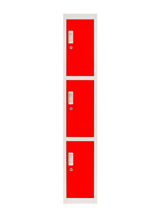 Locker Office Portacandado Rojo 3 Puertas 28x50x166 cm Maletek,,hi-res