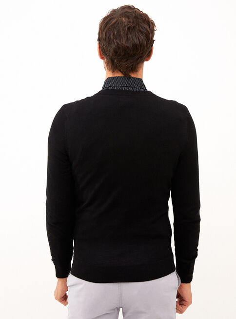 Sweater%20Negro%20Melange%20Cuello%20V%20Trial%C2%A0Sport%C2%A0%2CNegro%2Chi-res