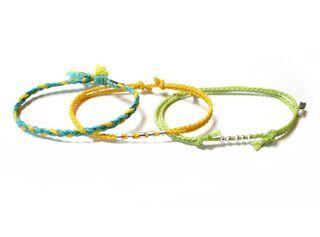 Set 3 Pulseras Kiutwoman Urban Tribe Become One Euphoric Yellow,,hi-res