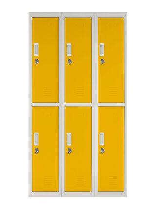 Locker Office Candado Amarillo 6 Puertas 83x50x166 cm Maletek,,hi-res