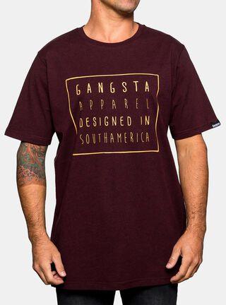 Polera Apparel Shothamerica Gangsta,Caoba,hi-res