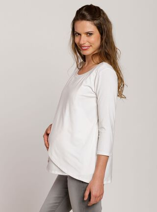 Polera Presilla Nala Maternity,Crema,hi-res