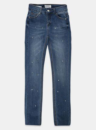 Jeans Foster Aplicación Niña,Azul Eléctrico,hi-res