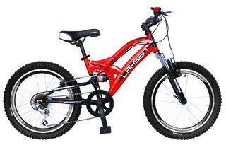 Bicicleta MTB Doble Suspension Impact 2000 Aro 20 Lahsen,Granate,hi-res