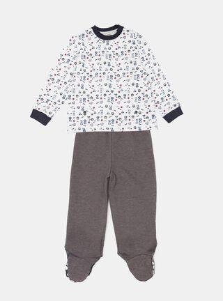 Pijama Tribu Manga Larga Niño,Grafito,hi-res