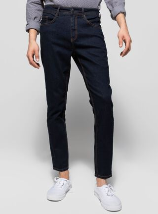 Jeans Básico Liso Azul Foster,Azul Oscuro,hi-res