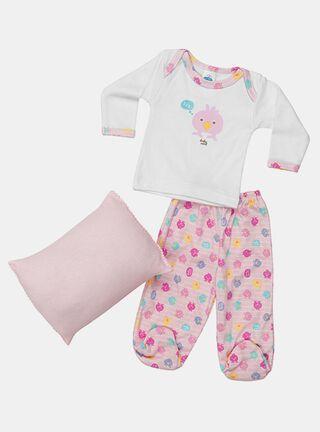 Pijama+ Almohada Baby Mink Brilla Oscuridad Niña,Rosado,hi-res
