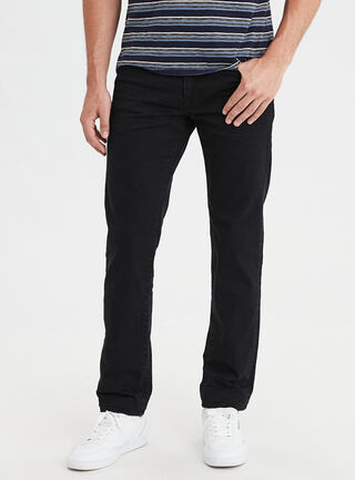 Jeans Slim Straight Ne(X)T Level American Eagle,Negro,hi-res