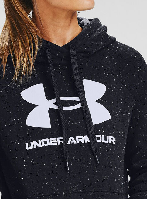 Poler%C3%B3n%20Mujer%20Rival%20Fleece%20Logo%20Hoodie%20Negro%20Under%20Armour%2CNegro%2Chi-res