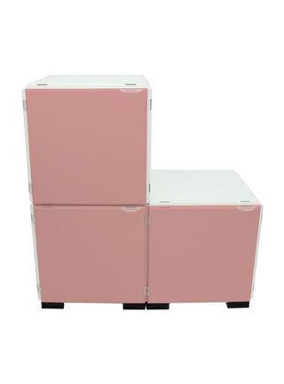 Mueble Modular Set 16 Piezas Blanco Rosa Kab Möbel,,hi-res