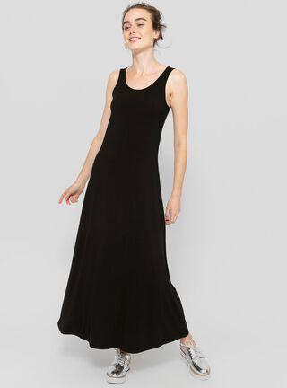 Vestido Largo Sin Mangas Opposite,Negro,hi-res