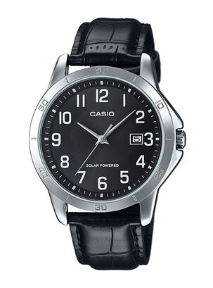 15891faac0b7 Reloj Hombre Análogo Mtp Cuero Negro Casio