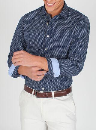 Camisa Manga Larga Premium Arrow,Azul Marino,hi-res