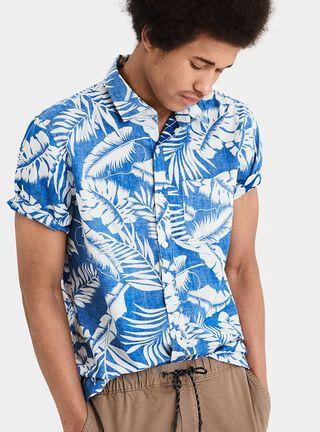 Camisa Manga Corta Print American Eagle,Azul,hi-res