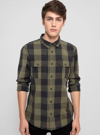 Camisa Cuadros Lee,Verde,hi-res