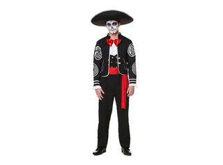 Disfraz Muerte Mexicana Hombre Carnaval,Único Color,hi-res