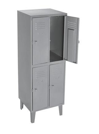 Locker Industrial 2 Cuerpos 4 Puertas 57x50x170 cm Movilockers,,hi-res
