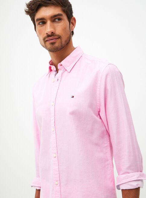 Camisa%20Algod%C3%B3n%20Lino%20Twill%20Tommy%20Hilfiger%2CRosado%20Pastel%2Chi-res
