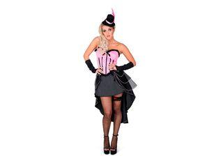 Disfraz Can Can Rosado Mujer Carnaval,Único Color,hi-res