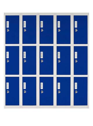 Locker Office Candado Azul 15 Puertas 140x50x166 cm Maletek,,hi-res