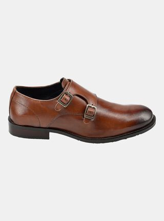 Zapato MR&MS Double Monk Tan Cafe Vestir,Cobre,hi-res