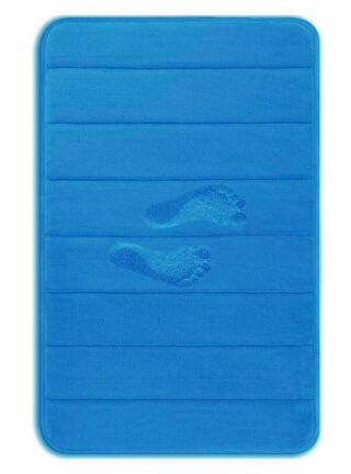 Memory Foam Bath Mat Blue Yimobra,,hi-res