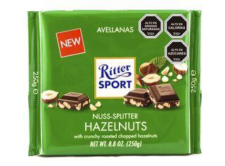 Chocolate Barra Avellanas Trosadas 75 g Ritter Sport,,hi-res