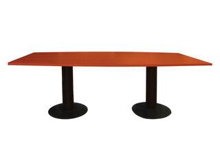 Mesa de Reunión Semi Curva 300x120x75 cm Movilockers,Café Oscuro,hi-res