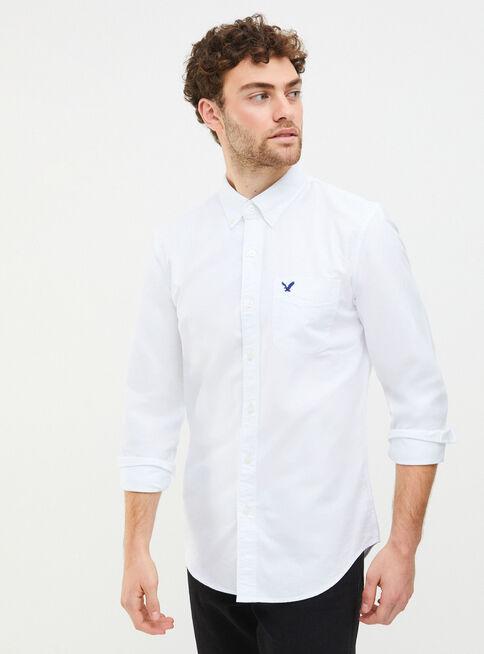 Camisa%20Lisa%20Oxford%20Bolsillo%20American%20Eagle%2CLino%2Chi-res
