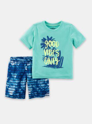 Pijama 2 Piezas Niño 6 A 12 Años OshKosh B'Gosh,Turquesa,hi-res