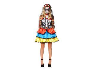 Disfraz Catrina Vestido Mujer Carnaval,Único Color,hi-res