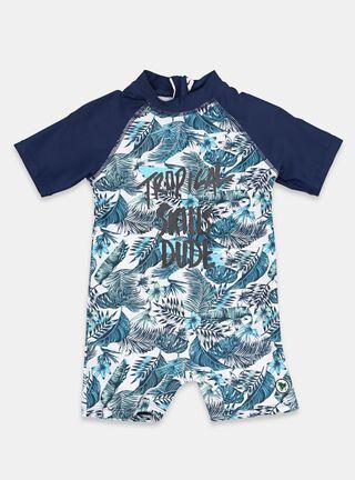 Trajes de Baño Tribu Bicolor Niño,Azul Oscuro,hi-res