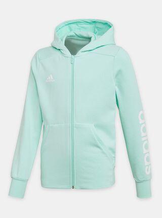 Polerón Adidas YG Linear FZ Niña,Verde,hi-res