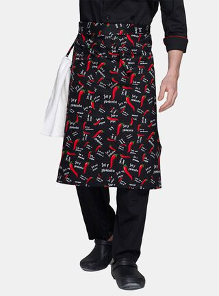 Mandil Pepper Unisex Checked Out,Negro,hi-res