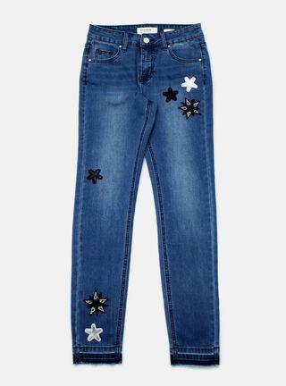 Jeans Foster Estrellas Niña,Azul Oscuro,hi-res