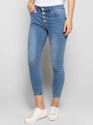 Jeans cierra botones Mujer,Azul,hi-res